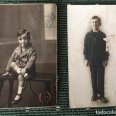 Postales: DOS FOTO-POSTALES AÑOS 20. KSADO VIGO. NIÑO FUMANDO Y PRIMERA COMUNIÓN.. Lote 228440235