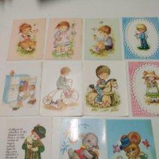 Postales: LOTE DE POSTALES INFANTILES DE LOS 80. Lote 232887745
