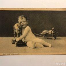 Cartes Postales: NIÑOS - JUGUETES. POSTAL ALEMANA.. KATHE KRUSE EL BAMBALEADOR... (H.1940?) S/C. Lote 234333015