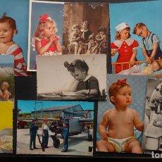 Postales: 14 POSTALES DE NIÑOS DE LOS AÑOS 40 Y 50 CIRCULADAS, VER FOTOS Y COMENTARIOS. Lote 234549845