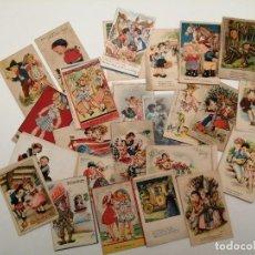 Postales: LOTE POSTALES INFANTILES, (LA MAYORIA ESCRITAS), (14X9). Lote 235154065