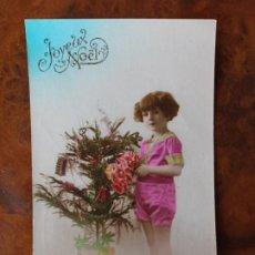 Postales: NIÑA FLORES FELIZ AÑO PRINCIPIOS SIGLO XX. Lote 238598380