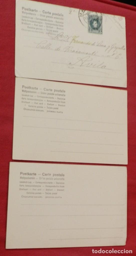 Postales: 3 POSTALES COLOREADAS DE NIÑOS JUGANDO, UNA CIRCULADA EN 1904, LAS OTRAS SIN CIRCULAR Y SINN DIVIDIR - Foto 2 - 240599490