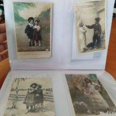 Postales: ÁLBUM CONTENIENDO 108 POSTALES ROMANTICAS DE NIÑOS.BUEN ESTADO.TODAS ORIGINALES. Lote 244642380