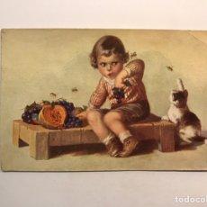 Postales: POSTAL NIÑOS.., ILUSTRA W. F., NO.1738, DEDICADA.. ZARAGOZA (A.1932). Lote 245748005