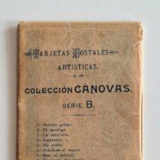 Postales: 10 ANTIGUAS TARJETAS POSTALES ARTÍSTICAS COLECCIÓN CÁNOVAS SERIE B - KAULAK - SIN DIVIDIR. Lote 246371120