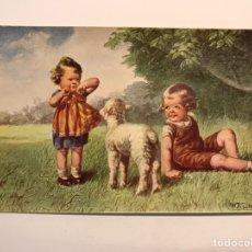 Postales: POSTAL NIÑOS.., ILUSTRA W. F., NO.2034, DEDICADA.. ZARAGOZA (A.1933). Lote 246431115