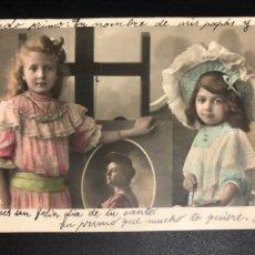 Postales: TARJETA POSTAL NIÑAS CABALLETE PINTOR.TARRASA 1905. Lote 246596185