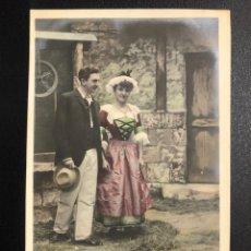 Postales: TARJETA POSTAL PAREJA EN POZO.STEBBING PARIS.MATARO 1905. Lote 246596815