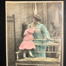 Postales: TARJETA POSTAL MUJER CON NIÑA.MATARO 1906. Lote 246597235