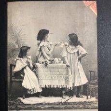 Postales: TARJETA POSTAL NIÑAS DESAYUNANDO.TARRASA 1905. Lote 246604215
