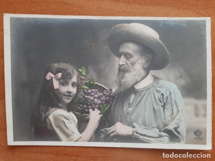 POSTAL ANTIGUA CIRCULADA (Postales - Postales Temáticas - Niños)