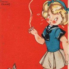 Postales: MARIA CLARET. HAY TOM VEO DOBLE. FUMANDO. Lote 254167535