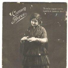 Postales: ANTIGUA POSTAL CARMEN FLORES ESCRITA 1918. Lote 255391985