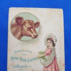 Postales: CROMO DE CHOCOLATES ROMAN BONO FUARNER , LA INDUSTRIAL ALICANTINA SIGLO IXX. Lote 256158425