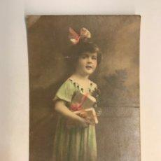 Postales: NIÑOS, POSTAL COLOREADA.., EDICIONES O R C NO.6649/50 (H.1910?) S/C. Lote 256161710