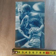 Postales: POSTAL DE MUJER Y NIÑA P.C PARÍS Nº1408 ESCRITA EN SALLENT 1925W. Lote 260293840