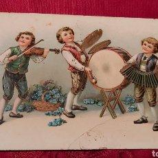 Postales: POSTAL ANTIGUA DE 1919. EDICIONES EAS. NIÑOS MUSICOS. Lote 261290340