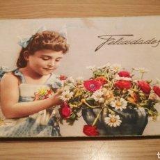 Postales: ANTIGUA TARJETA POSTAL DE FELICITACIÓN 1957 - CIRCULADA. Lote 262310740