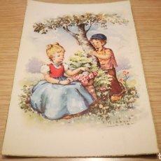 Postales: ANTIGUA TARJETA POSTAL DE NIÑOS 1958 - CIRCULADA. Lote 262313150