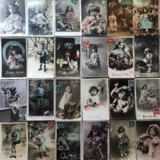 Postales: 24 POSTALES (NIÑOS) ROMANTICAS. Lote 263416590