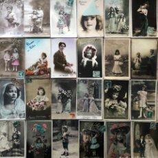 Postales: 24 POSTALES (NIÑOS) ROMANTICAS. Lote 263433360