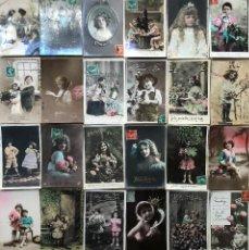 Postales: 24 POSTALES (NIÑOS) ROMANTICAS. Lote 263436545