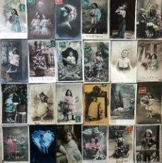 Postales: 24 POSTALES (NIÑOS) ROMANTICAS. Lote 263443035