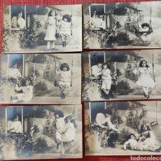 Postales: 6 POSTALES FOTOGRÁFICAS ANTIGUAS NIÑOS SIN CIRCULAR. Lote 268428074