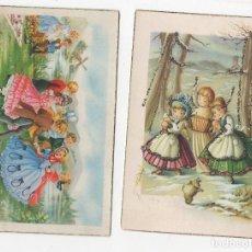 Postales: LOTE DE 2 TARJETAS POSTALES INFANTILES M.R.G. UNA CON BRILLANTINA. AÑOS 1956 Y 1960. Lote 268815914