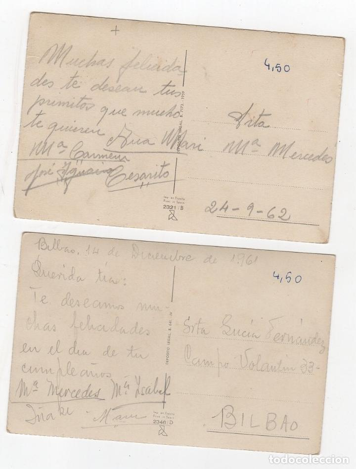 Postales: LOTE DE 2 TARJETAS POSTALES INFANTILES ILUSTRADAS POR GIRONA. AÑOS 1961-1962 - Foto 2 - 268818344