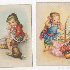 Postales: LOTE DE 2 TARJETAS POSTALES INFANTILES ILUSTRADAS POR GIRONA. AÑOS 1961-1962. Lote 268818344