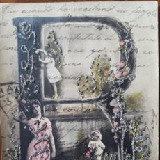 Postales: POSTAL NIÑOS PRINCIPIO SIGLO XX 01/09/1904 ZARAGOZA A PONTEVEDRA. Lote 269470533