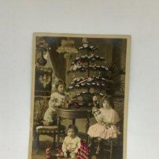 Postales: POSTAL H. 1905 INFANCIA Y NAVIDAD, MOTIVO NAVIDEÑA. COLOREADA. FRANCESA. ESCRITA EN CASTELLANO.. Lote 269719413