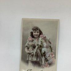 Postales: POSTAL INFANCIA, JUGUETES Y NIÑOS. COLOREADA, ESCRITA. FELICITACIÓN AÑO NUEVO. ARS PARÍS 202. H 1905. Lote 269720078