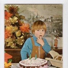 Postales: CUMPLEAÑOS. SERIE 1020/5 ♦ POSTALES VIKINGO, 1969. Lote 270416003