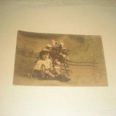 Postales: PRECIOSA POSTAL DE NIÑO, ESCRITA 1908. Lote 275985583