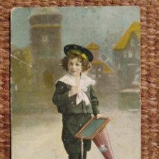 Cartes Postales: NIÑO ESTUDIANTE. Lote 276129753