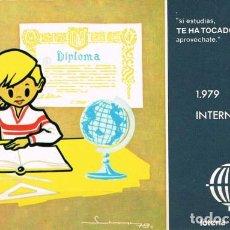 Postales: [C0403] ESPAÑA 1979, POSTAL LOTERÍA. AÑO INTERNACIONAL DEL NIÑO, L-2 (N). Lote 277551518