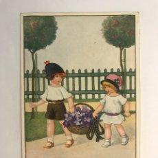 Postales: POSTAL NIÑOS. ILUSTRA MIA - GAL, EDIC., G & W 173/1500. (H.1910?) CIRCULADA….. Lote 277658128