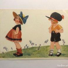 Postales: POSTAL NIÑOS. ILUSTRA MIA - GAL, EDIC., G & W 175/1512. (H.1910?) PRINTED IN SAXONY. Lote 277658363