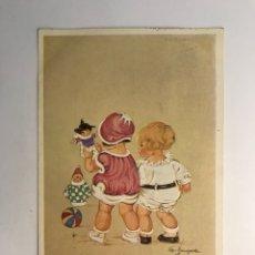 Postales: POSTAL NIÑOS. ILUSTRA BAUNGARTEN ? , EDIC., G & W 145/1373. (H.1910?) CIRCULADA... Lote 277672383