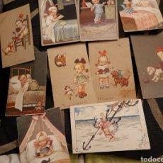 Postales: 10 ANTIGUAS POSTALES, DÉCADA DE 1920,NIÑOS , DE ITALIA. Lote 278298798
