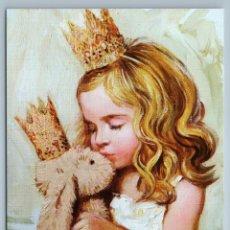 Postales: LITTLE GIRL PRINCESS WITH HER BUNNY RABBIT TOY BY SIMONOVA NEW UNPOSTED POSTCARD - OLGA SIMONOVA. Lote 278749478