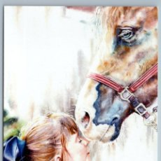 Postales: LITTLE GIRL WITH LONG HAIR N HORSE FRIENDS CHILDHOOD RUSSIAN NEW POSTCARD - VICTORIA OBUKHOVA. Lote 278749638
