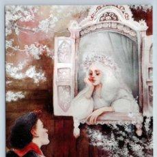 Postales: PRINCESS GIRL N BOY RED MAIDEN WINDOW SNOW WINTER RUSSIAN NEW UNPOSTED POSTCARD - OXANA VIKTOROVA. Lote 278749808