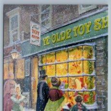 Postales: KIDS MAN WOMAN NEAR TOY SHOP DOLL CHRISTMAS EVE SNOW RUSSIAN NEW POSTCARD - DANIEL RODGERS. Lote 278749908