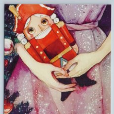Postales: NUTCRACKER WOODEN TOY CHILDREN HANDS FAIRY TALE XMAS TREE NEW UNPOSTED POSTCARD - OXANA VIKTOROVA. Lote 278749978