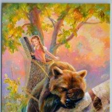 Postales: MASHA N BROWN BEAR LITTLE GIRL FANTASY TALE FOREST HUMOR RUSSIAN NEW POSTCARD - YULIYA NEPRIJATEL. Lote 278750573