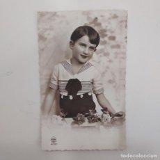Postales: POSTAL ROMANTICA NIÑO. FOX PARIS 4630. ESCRITA DETRAS 1936 BARCELONA. Lote 282002718